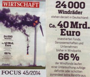 Windkraft verbrennt Geld